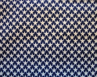 Calico Material Navy With Stars 59 x 23  Destash