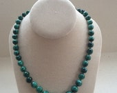 Graduated Strand of Malachite Beads