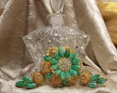 Vintage D&E Juliana Brooch Earring Set Book Piece