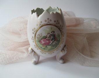 Vintage Pink Inarco Egg Vase Lovely