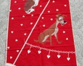 Vintage Lady and The Tramp Christmas Tree Skirt Panel