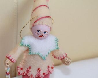 Felt Art Doll Lemon Meringue Piksee Easter hanging ornament