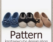 Simply Felted Ballet Flats - Crochet Pattern (PDF) - INSTANT DOWNLOAD