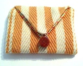 Cabana Coin Purse Orange Stripes Wallet