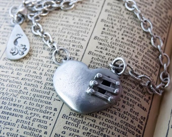 Mended Heart Pendant It Takes Courage to Find Strength in the Broken Places on Presentation Card