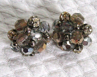 vogue Crystal and Rhinestone  Earrings . vogue earrings . vogue cluster earrings . vogue