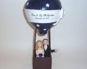 Hot Air Balloon cake topper with stars