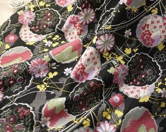 3323 - Japanese Chrysanthemum Floral Cotton Fabric - 59 Inch (Width) x 1/2 Yard (Length)