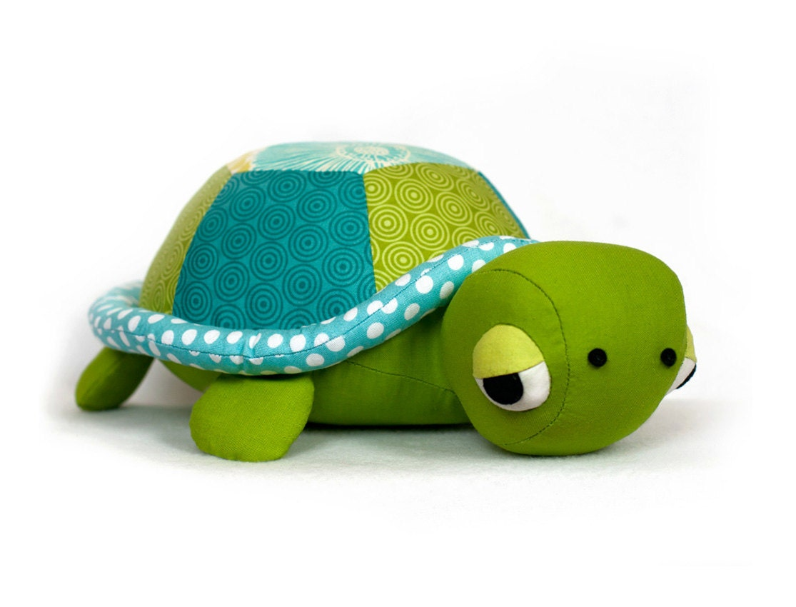 Free Sewing Pattern For Turtle Pillow: Turtle pattern sewing Tortoise plush PDF,