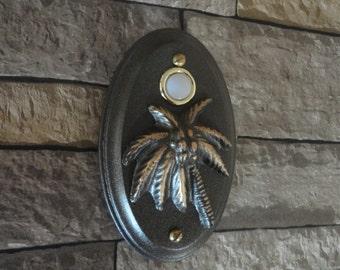 Tropical Palms Coastal Doorbell