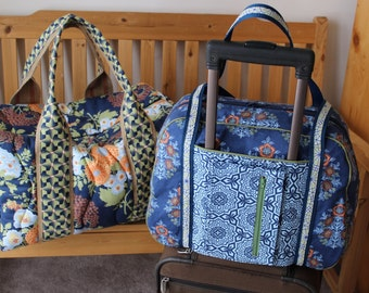 Travel Bag Set Custom Made for Ashley in fabric of choice