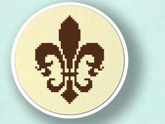 Fleur de Lis. Cross Stitch Pattern PDF File