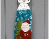Hanging Kitchen Towel Santa Winter Holiday item no 88