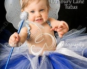 Girls tutu only, Baby Birthday or Halloween Costume Blue sparkle skirt,  choose a color, infant size 0,3,6,9,12,18,24 months -STARRY NIGHTS