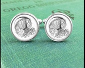 Silver or Brass Cufflinks - Jellyfish - Wearable Art- Handmade by Lisa Owens