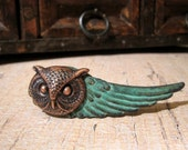 Owl Tie Bar, Steampunk Tie Clip, Wing Tie Clip, Men's Steampunk, Men's Tie Clip, Owl Head, Woodland Animal, ORIGINAL DESIGNER Days Long Gone
