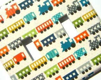 Trains Double Light Switch Cover Switchplate