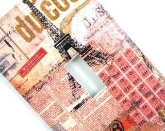 Light Switch Cover Switchplate -- Eiffel Tower Collage