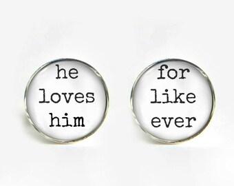 Gay Groom Wedding Cufflinks silver 18mm cuff links Gifts for him