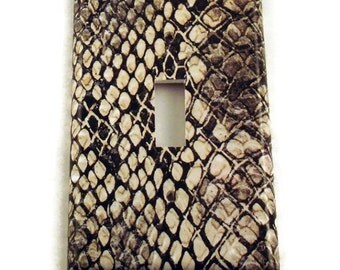 Switch Plate  Wall Decor  light switch cover   Light Switchplates  in  Snakeskin (202S)