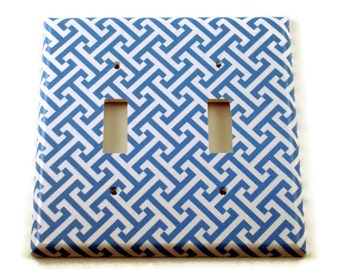 Double Light Switch Cover  Wall Decor Switch Plate Switchplate in  Aegean  (239D)