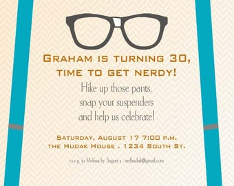 Digital File of Nerdy 30Birthday Invitations