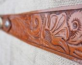 Gunbelt - Full Floral Carved