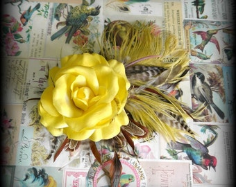 faerie tribal hair fascinator - golden summer