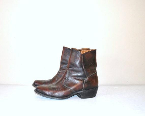 vintage 1960s mens leather boots rock and roll by