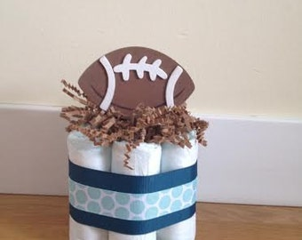 Small diaper cake FOOTBALL Sports Theme Customizable