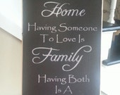 Having A Place To Go is Home Sign