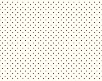 Riley Blake Designs, Swiss Dots in Cream Brown  (C600 90)