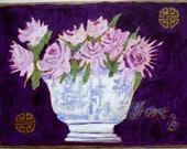 Purple with Chintz