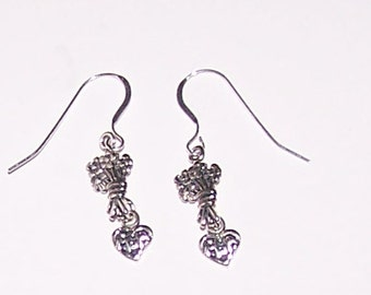 Sterling Silver MOM Earrings  - French Earwires - Mother
