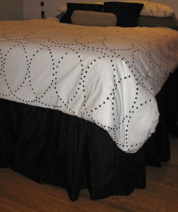 14 15 16 inches king size cotton ruffled bed skirt. Black Bedroom Furniture Sets. Home Design Ideas