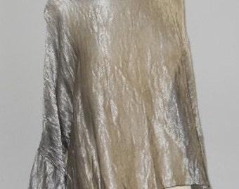 Metallic Silk Bronze Blouse