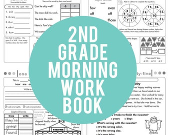 2nd Grade Common Core Morning Work Book