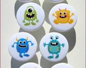 Monster Knobs • Fluffy Monsters • Kids Monster Knobs • Dresser Knobs • Drawer Knobs