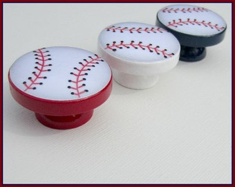 Baseball Knobs • Dresser Drawer Knobs • Drawer Pulls • Baseball Knobs • Sports Drawer Knobs
