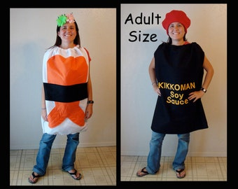 Adult Couples Sushi Soy Sauce Costumes Group Twins Mens Costume Womens Costume Dress Up Cosplay