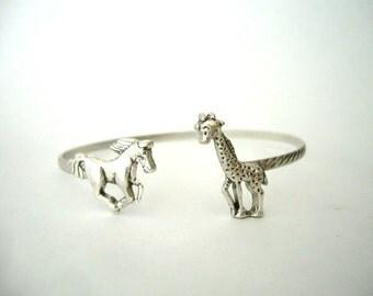Horse giraffe bracelet wrap style