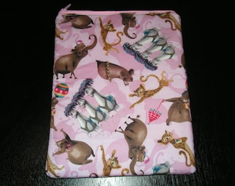Madagascar tv cartoon movie handmade zipper fabric iPad 2 3 4 Xoom Galaxy Acer case sleeve cover pouch tablet