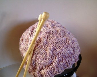 pdf Pattern for Phable Open Cable Knit Hat -- PATTERN