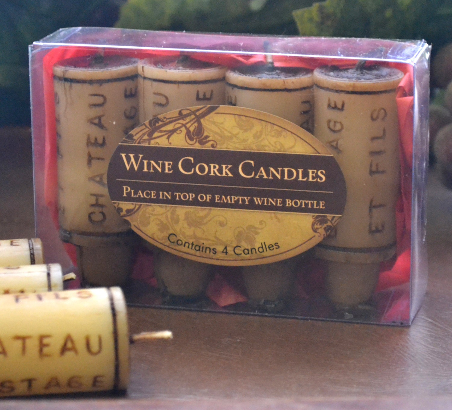 Cork Candles: Wine Cork Candles Set Of 4 Packaged Gift Set By