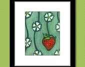 Kitchen Art Strawberry Blossom Fruit Print