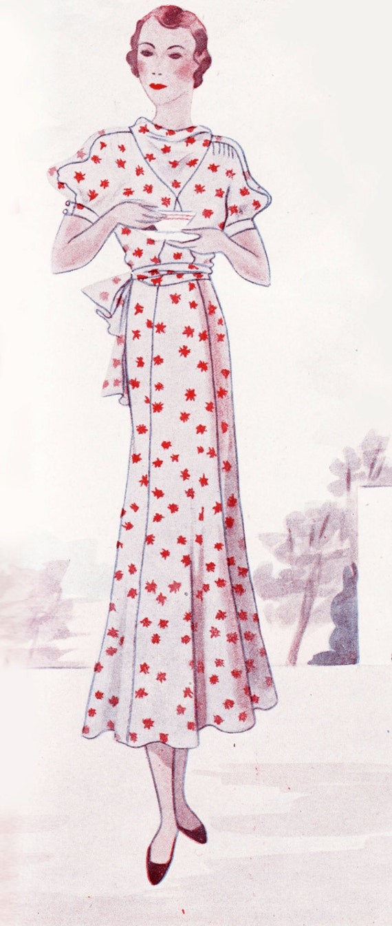 1930s Dresses, Clothing & Patterns Links Vintage Sewing Pattern 1930s Dress in Any Size Depew 1040 Draft at Home Pattern - PLUS Size Included -INSTANT DOWNLOAD- $8.50 AT vintagedancer.com