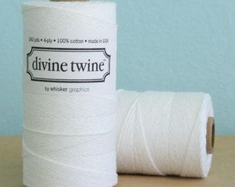 White Solid Divine Twine - Baker's Twine