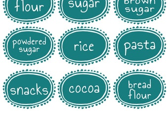 Vinyl Kitchen Labels