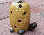 Vintage Pottery Figural Mod 60s Lg TURTLE Candle, Tealite Holder...marked Relco Sales USA...Dated '69
