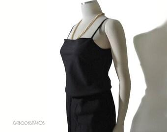 Yohji Yamamoto Dress – Vintage 90s Black Yoji Yamamoto Black Wool Dress XS